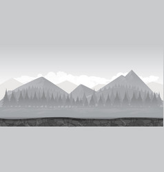 landscape for gamebackground for game black and vector image
