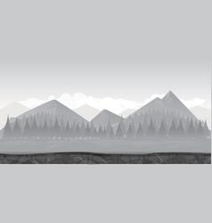 landscape for gamebackground for game black vector image