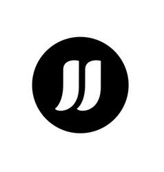 Letter jj logo design logo template and icon vector