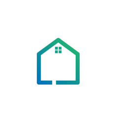 Letter l architect home construction creative vector