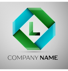 Letter L logo symbol in the colorful rhombus vector