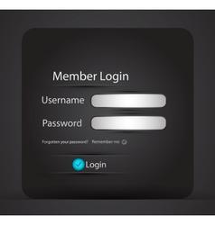 Login page vector