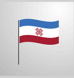 Mari-el waving flag vector