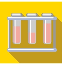 Medical test tubes icon flat style vector image