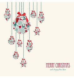 Merry Christmas hanging elements decoration vector