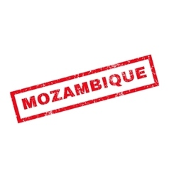 Mozambique Rubber Stamp vector