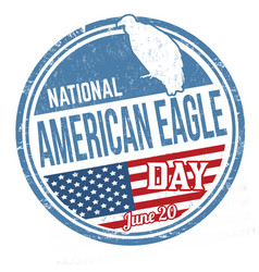 national american eagle day grunge rubber stamp vector image