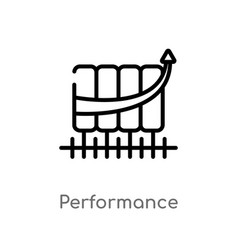 Outline performance icon isolated black simple vector