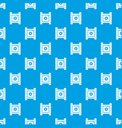 play film strip pattern seamless blue vector image