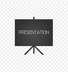projector screen icon presentation sign vector image