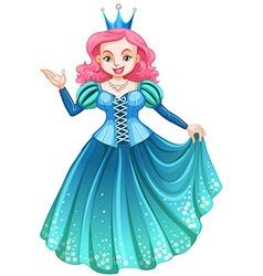 Queen in blue dress vector image