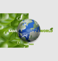 Save world say no to plastic concept background vector