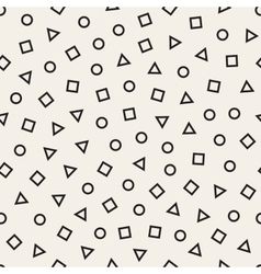 Scattered Geometric Line Shapes Seamless vector