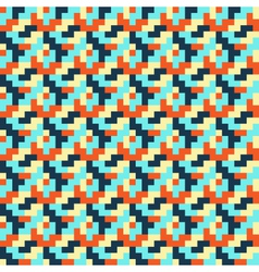 Seamless bright abstract mosaic pattern vector image
