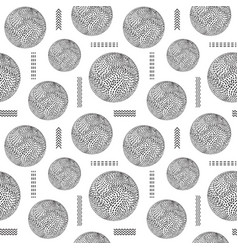 seamless pattern with striped balls vector image