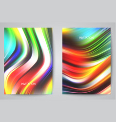 set rainbow backgrounds - 2 colorful banners vector image