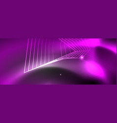 shiny neon techno template neon lines background vector image