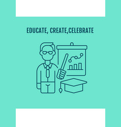 Showing gratitude for teachers postcard vector