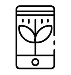 Smart control plants icon outline style vector