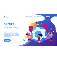 Sport summer camp concept landing page vector