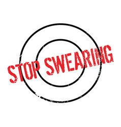 Stop swearing rubber stamp vector