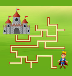 The prince find the way to the castle vector