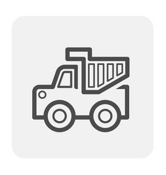 tipper truck icon vector image