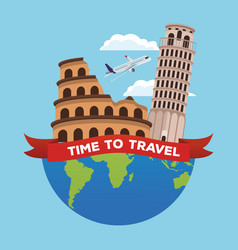 Travel to europe vector