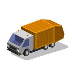 truck isometric vector image vector image