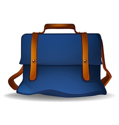 Blue bag vector image vector image