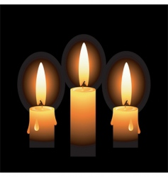 candles vector image vector image