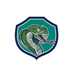 Cobra Viper Snake Shield Retro vector image vector image