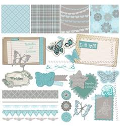 Design elements - vintage lace butterflies vector