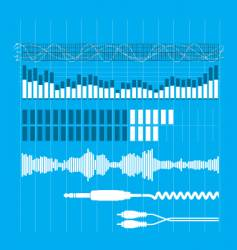 sound elements vector image vector image