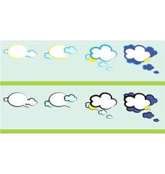 weather talk vector image vector image