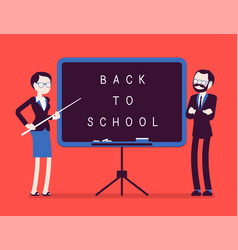 Back to school board vector