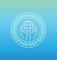 line peace logo vector image