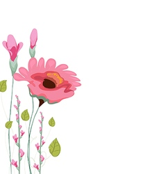 Painted watercolor card with poppy vector image vector image