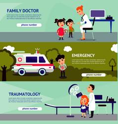 sick people horizontal banners vector image vector image