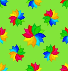 Abstract seamless texture with color flowers vector image