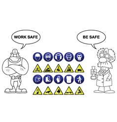 Construction and Hazard signs vector image vector image