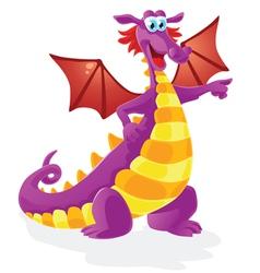 Dragon cartoon character isolated vector