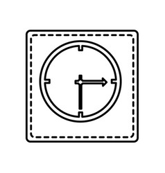 monochrome contour square and dotted line with vector image vector image