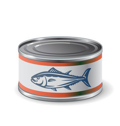 packing can of salmon vector image