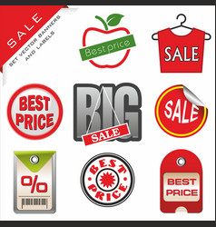Set signs for sale vector