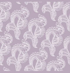 abstract pattern with lace stylized objects vector image vector image