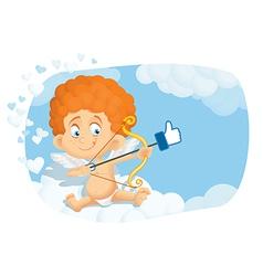 Cupid Thumb Up Cartoon vector image