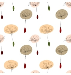 Dandelion seeds on white background vector image