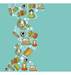 Education back to school cartoon icons vector image vector image