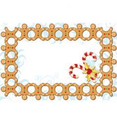 gingerbread boarder vector image